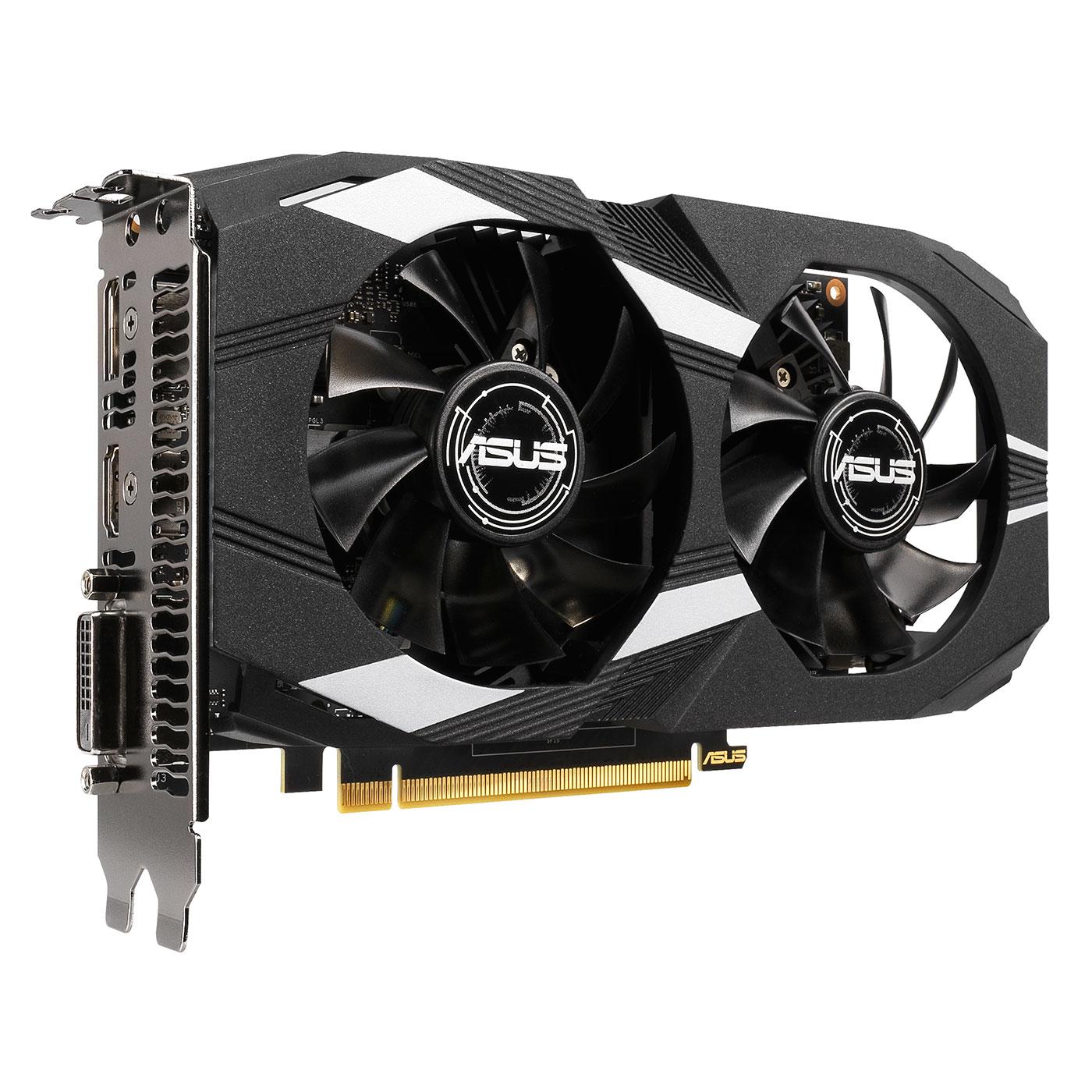 ASUS GeForce GTX 1650 DUAL-GTX1650-4G pas cher - HardWare.fr