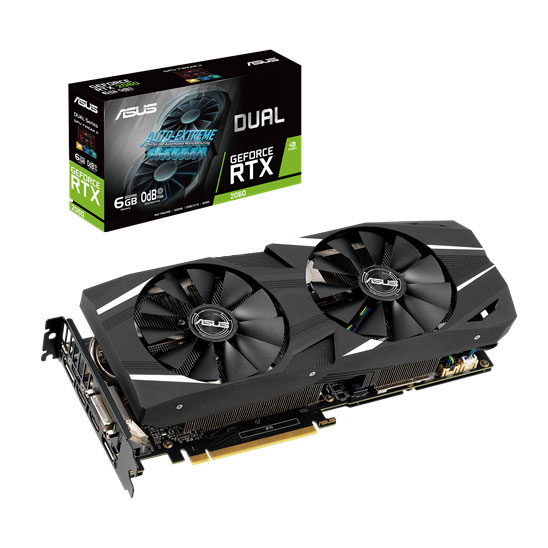 ASUS GeForce RTX 2060 DUAL-RTX2060-6G-EVO pas cher