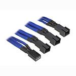 BitFenix Alchemy Blue - Câble d'alimentation gainé - 3 pins vers 3x 3 pins - 60 cm pas cher