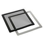 Filtre à poussière magnétique carré 200 mm (cadre noir, filtre noir) pas cher