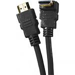 Câble HDMI 1.4 Ethernet Channel Coudé mâle/mâle Noir - (3 mètres) pas cher