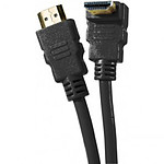 Câble HDMI 1.4 Ethernet Channel Coudé mâle/mâle Noir - (2 mètres) pas cher