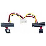 Câble SATA 2-en-1 avec alimentation Molex (pour 2 HDD ou SSD) pas cher