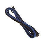 BitFenix Alchemy Blue/Black - Extension d'alimentation gainée - PCI Express 6 broches - 45 cm pas cher