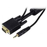 Câble VGA + Jack mâle / mâle (15 mètres) pas cher