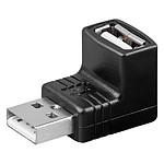 Adaptateur USB 2.0 type A mâle / type A femelle (coudé 90°) pas cher