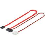 Câble micro SATA 2-en-1 avec alimentation Molex pas cher