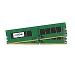 Crucial DDR4 16 Go (2 x 8 Go) 2400 MHz CL17 DR X8 pas cher