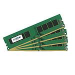 Crucial DDR4 16 Go (4 x 4 Go) 2400 MHz CL17 SR X8 pas cher