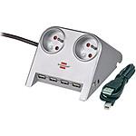 Brennenstuhl Desktop-Power (2 prises) + USB-Hub 2.0 pas cher