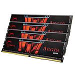 G.Skill Aegis 16 Go (4 x 4 Go) DDR4 2400 MHz CL15 pas cher