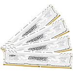 Ballistix Sport LT White 64 Go (4 x 16 Go) DDR4 2400 MHz CL17 pas cher