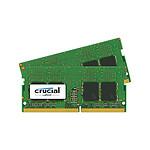 Crucial SO-DIMM DDR4 8 Go (2 x 4 Go) 2400 MHz CL17 SR X8 pas cher