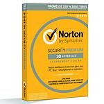 Norton Security Premium - Licence 1 an 10 postes pas cher