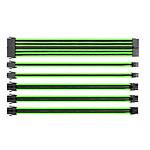 Thermaltake TtMod Sleeve Cable (Extension Câble Tressé) - Vert et Noir pas cher