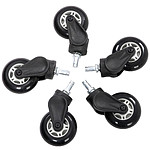 AKRacing Rollerblade Casters (blanc) pas cher