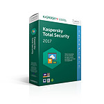 Kaspersky Total Security 2017 - Licence 5 postes 1 an pas cher