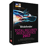 Bitdefender Total Security Multi-Device 2017 - Licence 2 Ans 10 Appareils pas cher