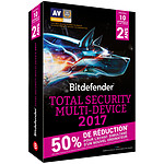 Bitdefender Total Security Multi-Device 2017 Offre Attachement - Licence 2 Ans 10 Appareils pas cher