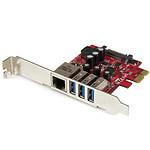StarTech.com Carte PCI Express à 3 ports USB 3.0 et 1 port Gigabit Ethernet avec UASP pas cher