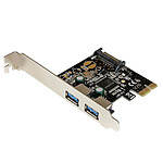StarTech.com Carte contrôleur PCI-E (2 ports USB 3.0 Type-A) pas cher