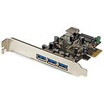 StarTech.com Carte contrôleur PCI-E (4 ports USB 3.0 Type-A - 1 interne et 3 externes) pas cher