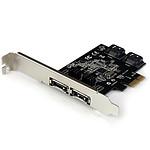 StarTech.com Carte contrôleur PCI-E avec 2 ports SATA III interne et 2 ports eSATA externe pas cher