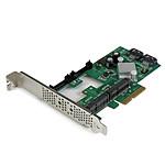 StarTech.com Carte contrôleur 2 slots mSATA + 2 ports SATA III sur slot PCI-Express 4x pas cher