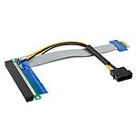 Adaptateur horizontal (riser) PCI-Express 1x vers 16x pas cher