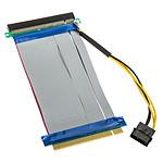 Adaptateur horizontal (riser) PCI-Express 16x - Nappe 190 mm pas cher