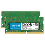 Crucial SO-DIMM DDR4 32 Go (2 x 16 Go) 2666 MHz CL19 Dual Rank X8 pas cher