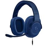 Logitech G433 7.1 Surround Sound Wired Gaming Headset Bleu pas cher