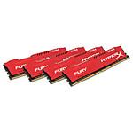HyperX Fury Rouge 32 Go (4x 8 Go) DDR4 2400 MHz CL15 pas cher