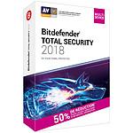 Bitdefender Total Security 2018 Attachement - Licence 2 Ans 10 Appareils pas cher