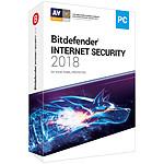 Bitdefender Internet Security 2018 - Licence 2 Ans 5 Postes pas cher