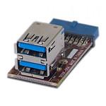 Adaptateur 2 ports USB 3.0 internes sur carte mère pas cher