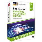 Bitdefender Antivirus PC Lifetime Edition - Licence à vie 1 poste pas cher