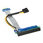 Kolink adaptateur horizontal (riser) PCI-Express 1x vers 16x - Nappe 190 mm pas cher