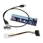 Kolink kit riser PCI-Express 1x vers 16x (Molex) pas cher