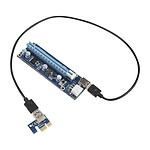 Kolink kit riser PCI-Express 1x vers 16x (PCI-E 6 Broches) pas cher