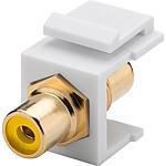 Goobay coupleur RCA jaune pour boitier réseau type Keystone pas cher