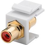 Goobay coupleur RCA rouge pour boitier réseau type Keystone pas cher