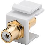 Goobay coupleur RCA blanc pour boitier réseau type Keystone pas cher