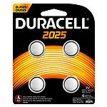 Duracell 2025 Lithium 3V (par 4) pas cher