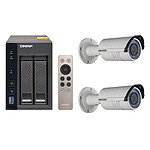 QNAP TS-253A-4G + 2x Hikvision DS-2CD2620F-IZ pas cher