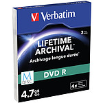 Verbatim MDISC DVD R 4.7 Go (par 3, boitiers Slim) pas cher