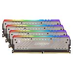 Ballistix Tactical Tracer RGB 64 Go (4x 16 Go) DDR4 2666 MHz CL16 pas cher