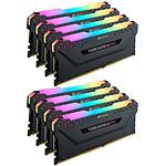 Corsair Vengeance RGB PRO Series 64 Go (8x 8 Go) DDR4 4000 MHz CL19 pas cher