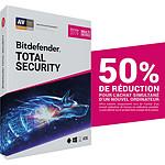 Bitdefender Total Security 2019 Offre Attachement - Licence 2 Ans 10 Appareils pas cher