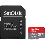 SanDisk Ultra microSDXC UHS-I U1 64 Go + Adaptateur SD pas cher